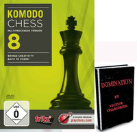 Komodo Chess 8 - Multiprocessor version Chess Software DVD plus Domination E-book