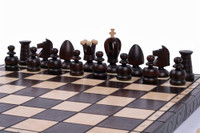 The Sheik - Unique Wood Chess Set with Board and Storage, King 3.25""