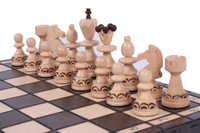 The Delbog - Unique Wood Chess Set, Board & Storage