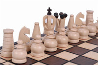 The Zosia - Unique Wood Chess Set with Chess Board & Fitted Storage