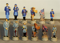 Civil War Generals Chess Pieces