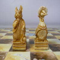 Peter Rabbit Chessmen & Board