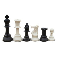 Value Set: Standard Tournament Chess Set - Black and White Pieces, Blue Board, and Blue Bag