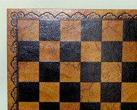 """Chess Board Pressed Leather World Map 2"""""""