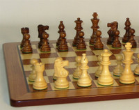 Classic Noir Chess Set - Chess Pieces and Matching Chess Board