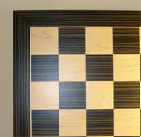 Ebony and Maple Chess Board