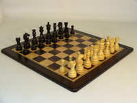 Black Lotus Chess Set - Chess Pieces and Ebony/Maple Matching Chess Board
