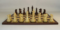 Rosewood New Classic Chess Set - Chess Pieces and Matching Chess Board