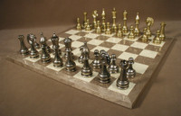 Treviso Robust Chess Set - Chess Pieces and Matching Chess Board