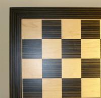 "Ebony and Maple Veneer Chess Board, 1.5"" squares"