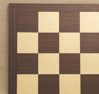 "Dark Rosewood and Maple Chess Board, 2"" squares"