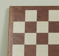"Hazelnut and Maple Chess Board, 2"" squares"