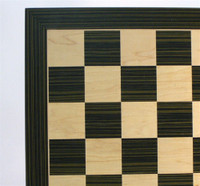 "Ebony and Maple veneer Chess Board, 2.4"" Squares"