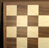 "Walnut and Maple Chess Board, 1.5"" square"