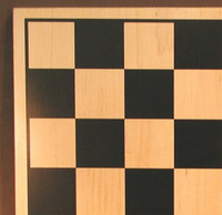 "Walnut and Maple Chess Board, 2"" square"