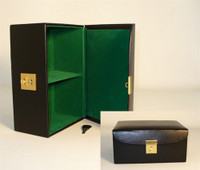 "Black Vinyl Hinged Chess Storage Box, for up to 4.25"" King"