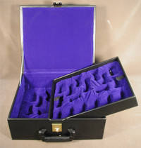 "Black Vinyl Two-Tray Box for up to 5.5"" King"