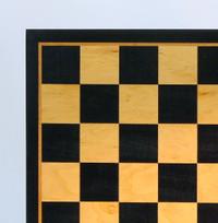 """Black & Birdseye Maple Chess Board - 21"""" ("""