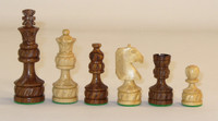 "Royal Plus - Golden Rosewood and Boxwood Chess Pieces - - 4"" King"