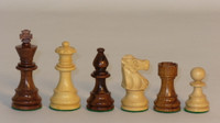 "The Romantic - Golden Rosewood and Natural Boxwood Chess Pieces - 3.25"" King"