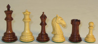 "The Camelot - Rosewood and Natural Boxwood Chess Pieces - 3.75"" King"