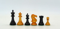 Black and Antiqued Boxwood French Knight Chess Pieces