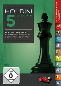 Houdini 5 Standard - Chess Playing Software Program for Download