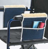 Wheelchair armrest cover and pouch