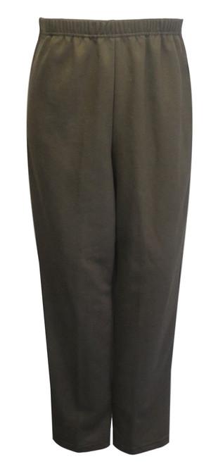 Womens Adaptive Side Zipper Fleece Pants, Brown