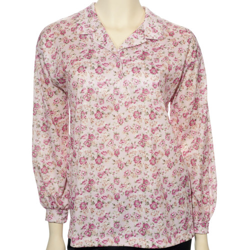 adaptive back snap blouse