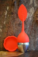 Silicone Infuser Ball - Red Leaf