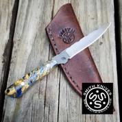 Lacy Smith - Damascus Bird & Trout Knife - SK1805414-FLS
