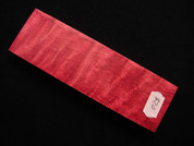 Stabilized Curly Maple - Red Dyed - SK0003-SCM