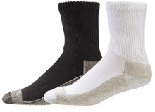 White Quarter Height Copper Soled Sox by Aetrex