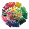 Packages of BT Warehouse rubber bands in assorted colors