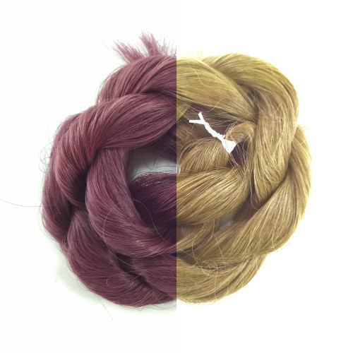 Plum thermal color change hair extensions