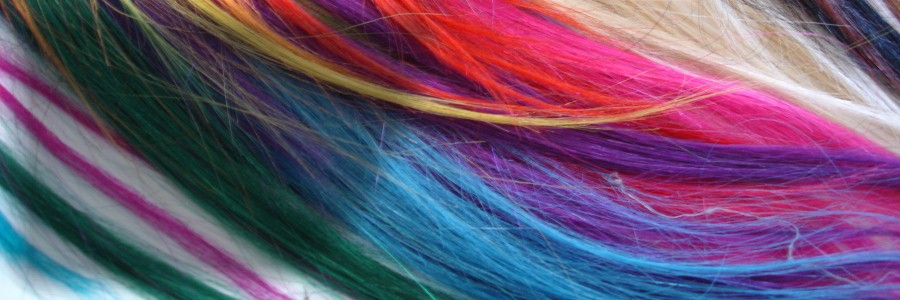 A POP OF COLOR: Human Hair Wefts by the Foot