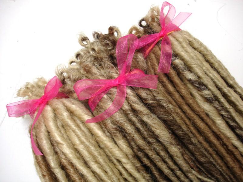 how to make fake dreadlocks with wool