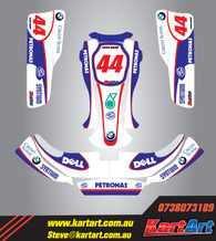 Williams replica Style Full graphics Kit