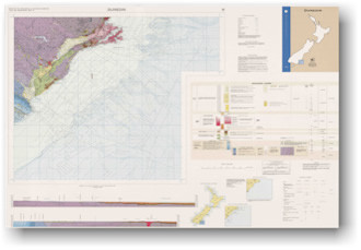 Geology of the Dunedin area : scale 1:250,000 Digital Download
