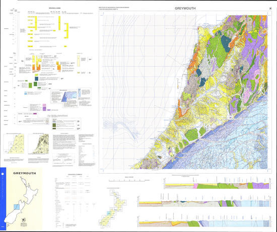 Geology of the Greymouth area : scale 1:250,000 Digital Download