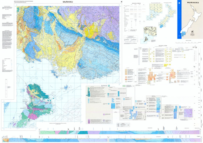 Geology of the Murihiku area : scale 1:250,000 Digital Download
