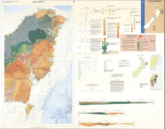Geology of the Raukumara area : scale 1:250,000 Digital Download