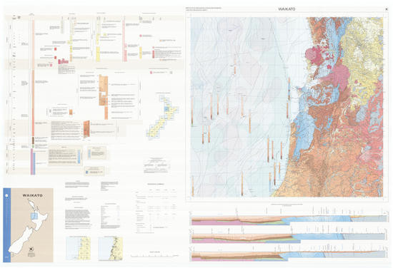 Geology of the Waikato area : scale 1:250,000 Digital Download