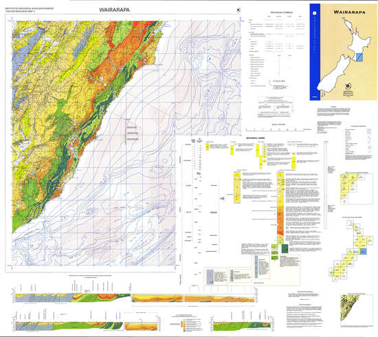 Geology of the Wairarapa area : scale 1:250,000 Digital Download