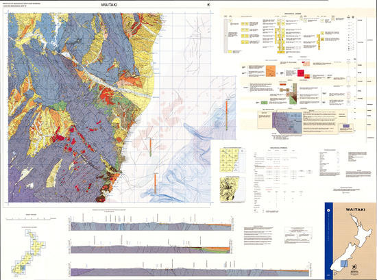 Geology of the Waitaki area : scale 1:250,000 Digital Download