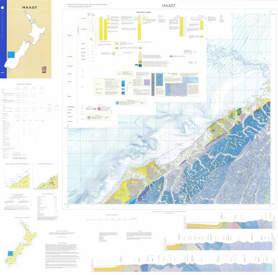 Geology of the Haast area : scale 1:250,000 Digital Download