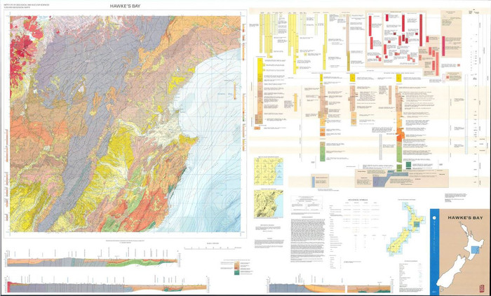 Geology of the Hawke's Bay area : scale 1:250,000 Digital Download