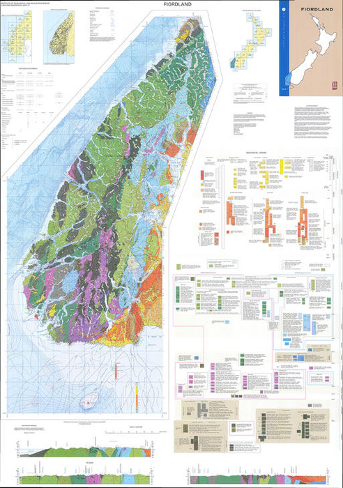 Geology of the Fiordland area : scale 1:250,000 Digital Download
