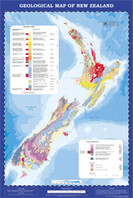 Geological map of New Zealand. Scale 1:2,000,000